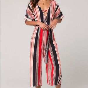 Band of Gypsies Cape Town Stripe Jumpsuit XL
